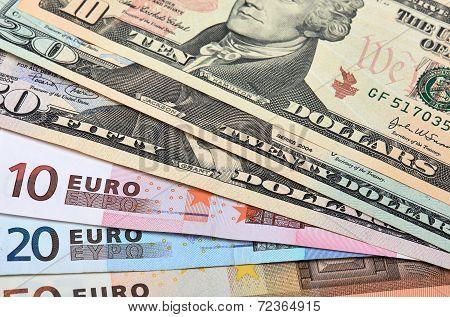 Euros Dollars Image Photo Free Trial
