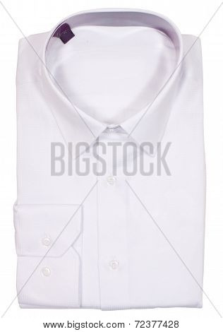 Men's blank folded shirt. Isolated on white