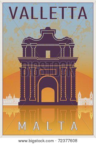 Valletta Vintage Poster