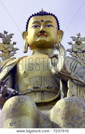 statue of buddha in likir monastery of ladakh