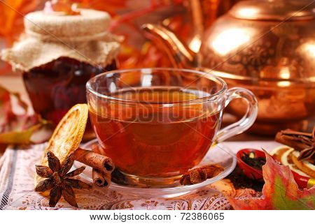 Autumn Tea With Spices And Honey