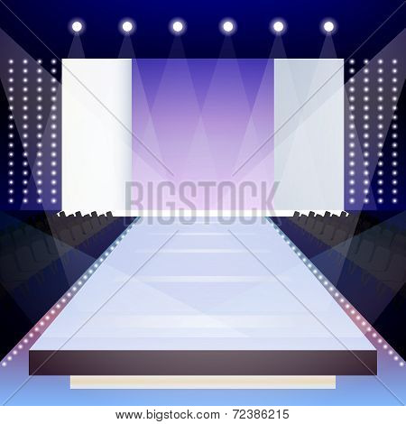 Fashion runway poster