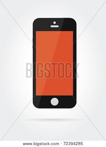 Vector smartphone similar to iphone isolated on white