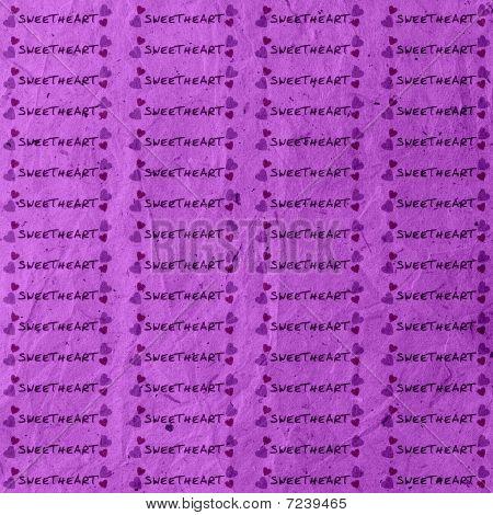 Fun Purple Sweetheart Hearts Background