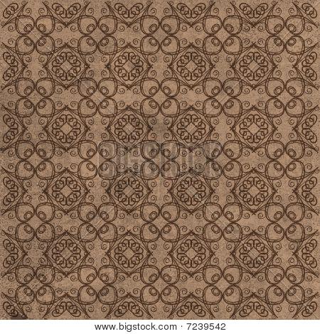 Brown Decorative Swirl Ornamental Background