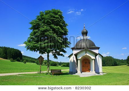 Landscape With A Chapel In Upper Bavaria, Germany