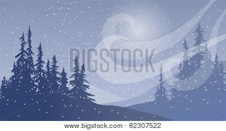 Snowfall With Wind