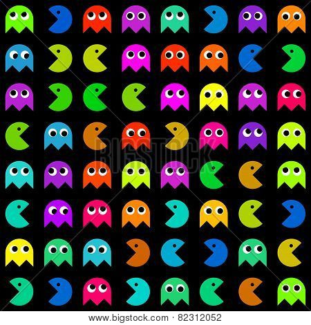 Many Different Pacman Icons