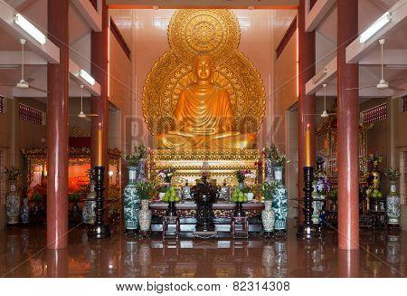 Buddha Statue in Temple, Saigon, Vietnam