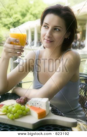 Young Woman At Lunch