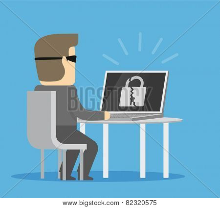 Hacker breaks into computer