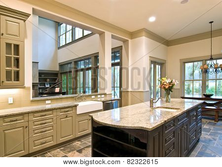 expensive kitchen remodel with open concept
