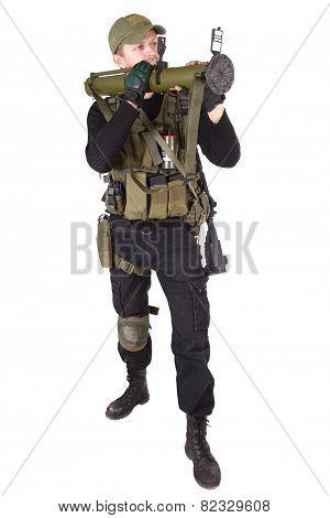 Mercenary With Bazooka Gun