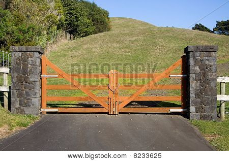 Closed Wooden Country Gate