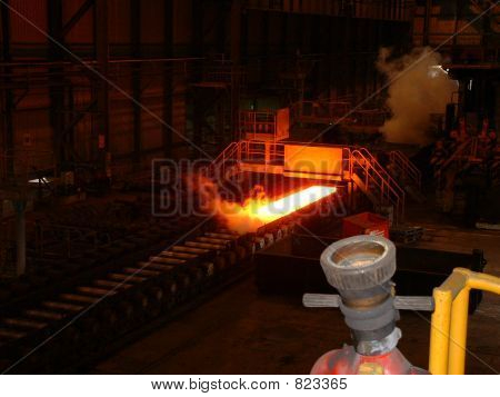 Hot steel