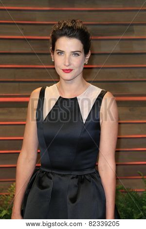 WEST HOLLYWOOD - MAR 2:: Cobie Smulders at the 2014 Vanity Fair Oscar Party on March 2, 2014 in West Hollywood, California