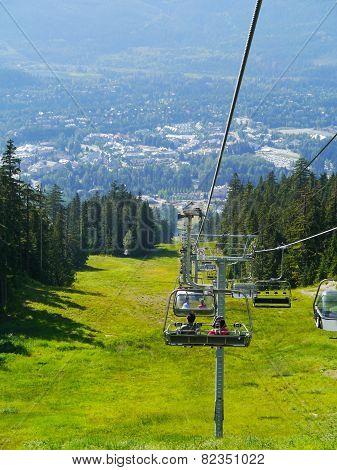 View from the Wizard Chair on Blackcomb Mountain