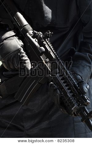 Soldier With Automatic Rifle