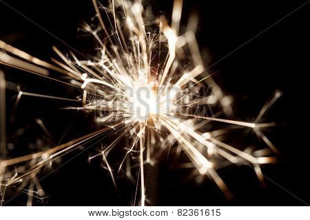 sparkler on black
