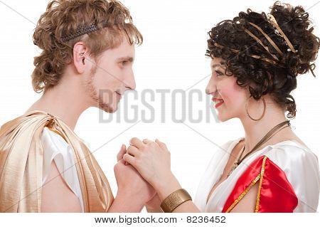 Beautiful Couple In Greek Style