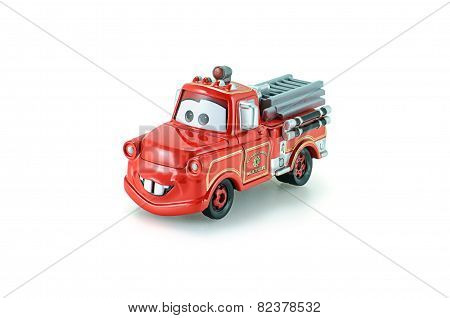 Rescue Squad Mater Toy Car A Protagonist Of The Disney Pixar Feature Film Cars.