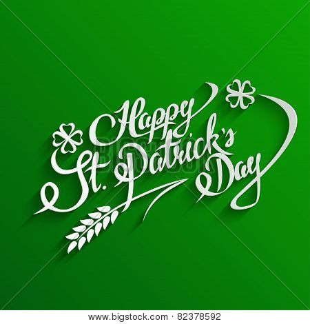 Happy St. Patricks Day lettering Greeting Card