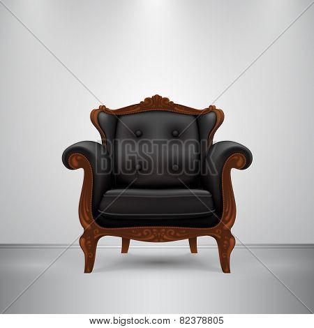 Retro chair black