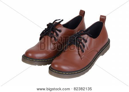 Pair Of Brown Shoes.