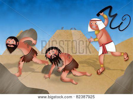Slaves in Egypt - Jewish Passover Cartoon