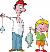 Dad and daughter fishing trip