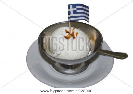 Greek Flag On Icecream