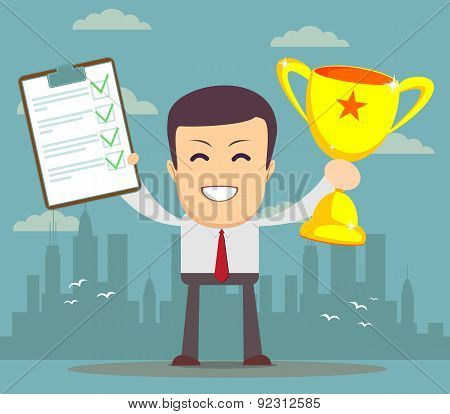 Winner businessman