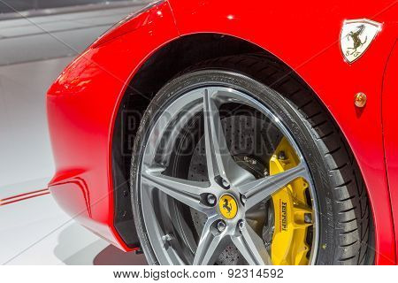 Ferrari 458 Spider Close Up