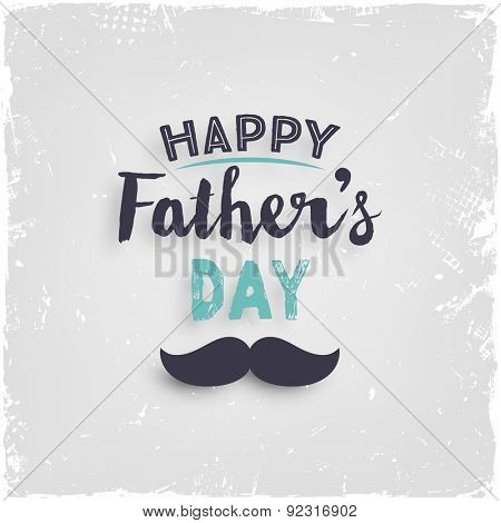 Happy Father's Day Card with Paper Background. Retro Style Design.
