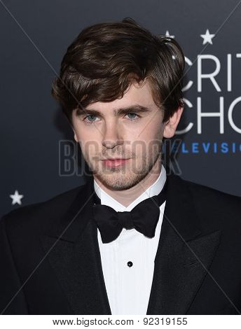 LOS ANGELES - MAY 31:  Freddie Highmore arrives to the Critic's Choice Television Awards 2015  on May 31, 2015 in Hollywood, CA