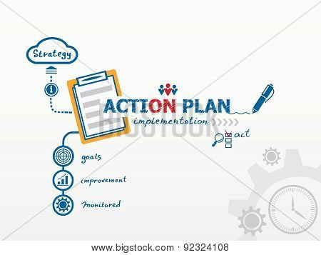 Action Plan Concept And Notebook.