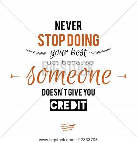 Inspirational and motivational quotes vector poster design.