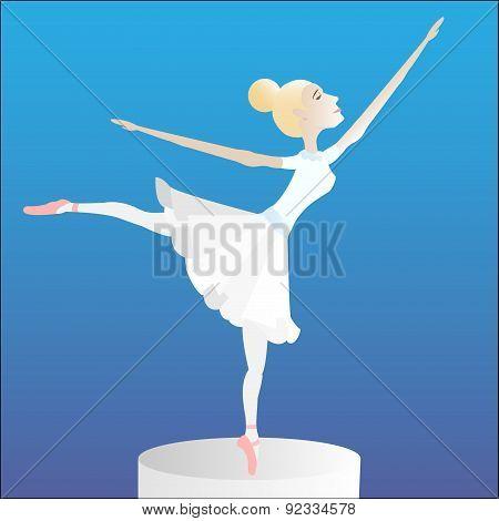 Ballerina on a pedestal