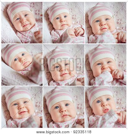 face collage babies