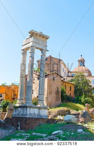 Temple Of Vesta In Rome, Italy