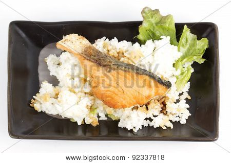 Grilled Salmon Teriyaki With Rice