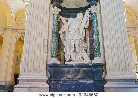 Sculpture In Basilica Of Saint John Lateran In Rome, Italy.