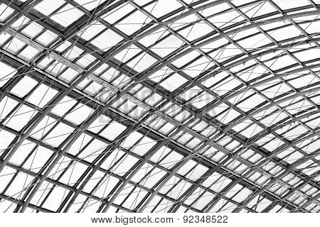 Metal Frame Of The Roof, Fragment Of Modern Building