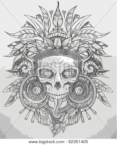 Indian Skull Vector Illustration