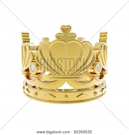 Isolated golden crown