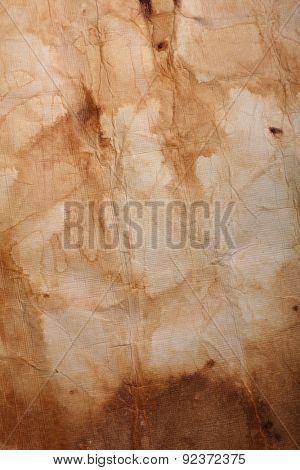 canvas paper scrunched,worn and weathered for vintage antique effect