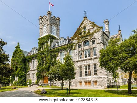 Theological Hall building on campus of Queen's University in Kingston, Ontario, Canada.