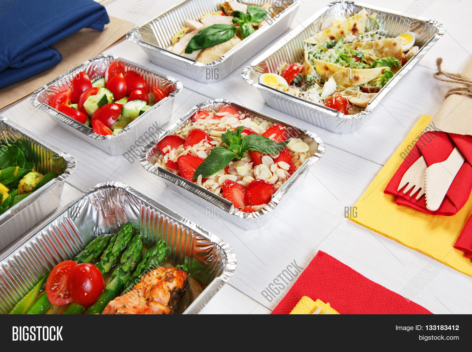 Healthy Food Delivery Image Photo Free Trial Bigstock