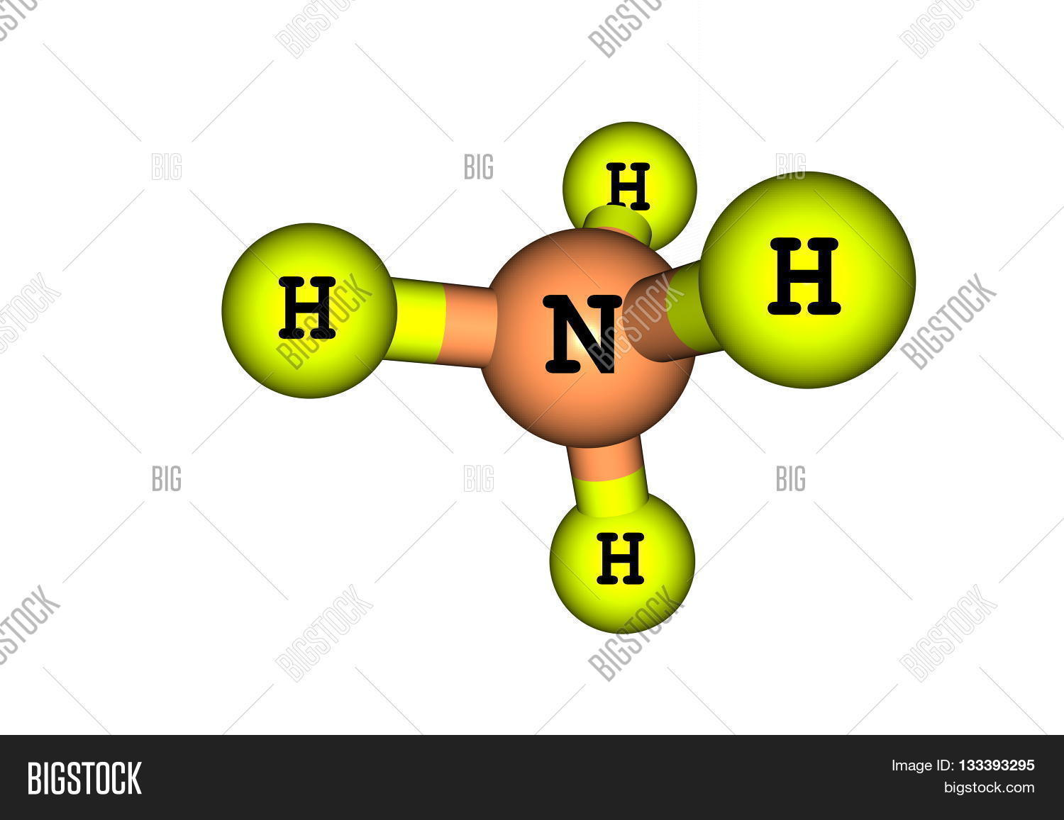 Ammonium Cation Image Photo Free Trial Bigstock