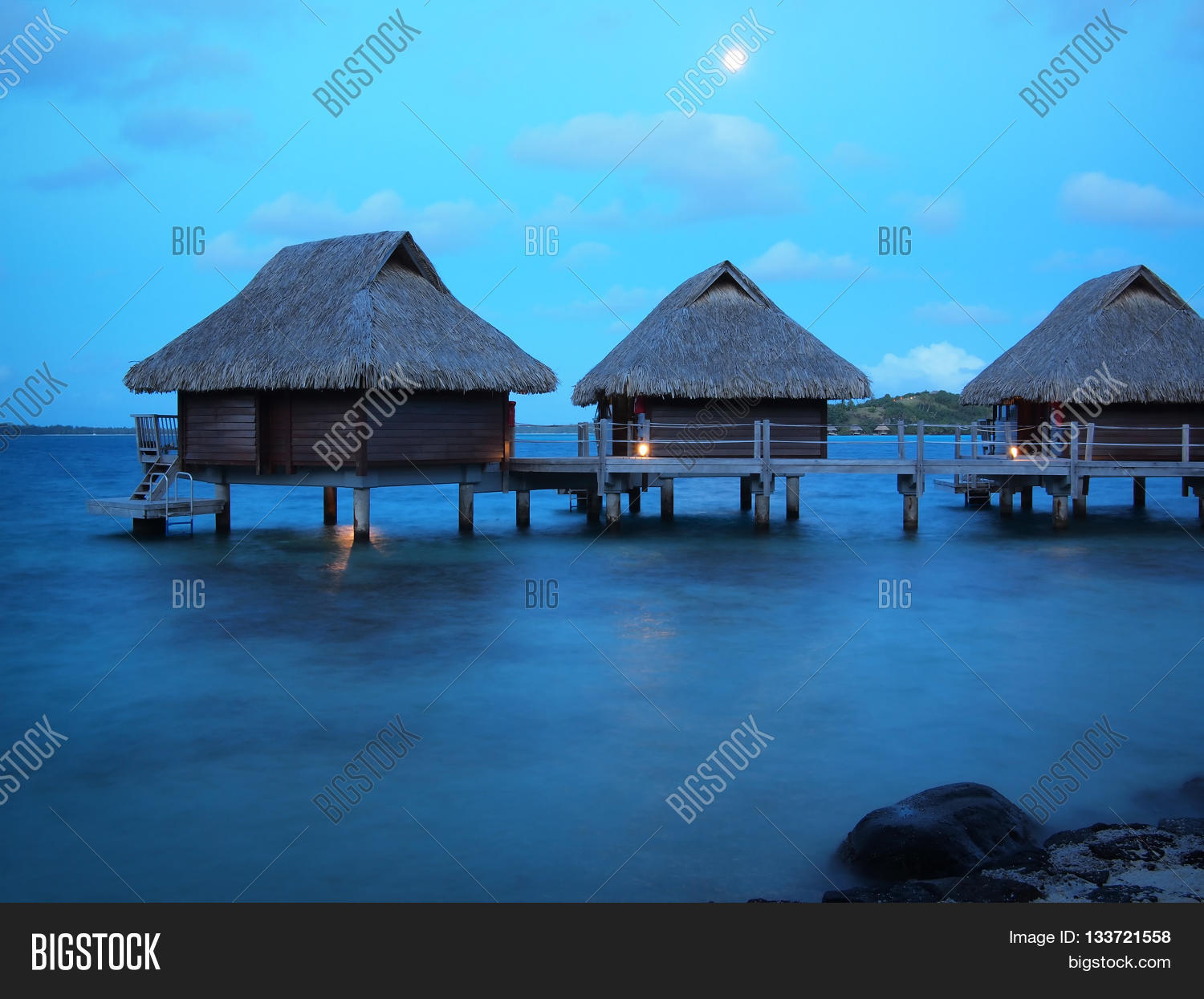 Three Thatched Roof Image Photo Free Trial Bigstock